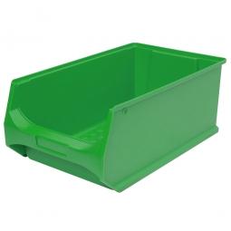 Sichtbox PROFI LB2, grün, Inhalt 21 Liter, LxBxH 500x300x200 mm, innen 425x270x190 mm.