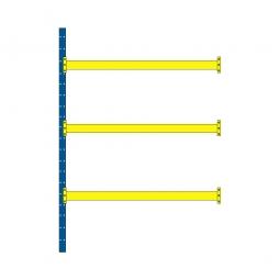 Paletten-Steck-Anbauregal, mit 3 Paar Tragbalken, HxBxT 4000 x 2785 x 1100 mm, Fachlast 2600 kg/Tragbalkenebene