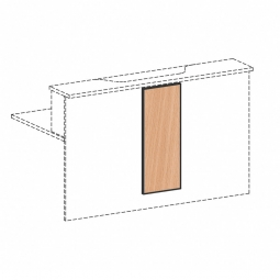 Empfangstheken-Blende, Buche, BxH 320x812 mm
