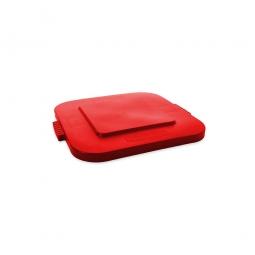 Deckel für Mehrzweckbehälter eckig 106 Liter, LxB 545x545 mm, rot, Polyethylen-Kunststoff (PE)