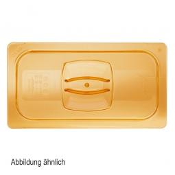 Auflagedeckel für Schale GN1/2, LxB 325x265 mm, Ultem-Kunststoff, bernsteinfarben, FG228P23AMBR