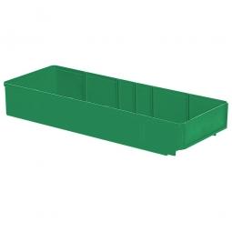 Regalkasten, grün, LxBxH 500x186x83 mm, Polystyrol-Kunststoff (PS), Gewicht 475 g