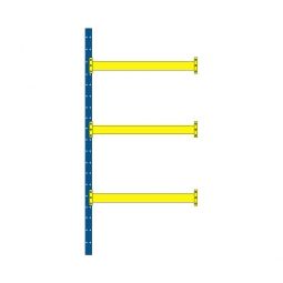 Paletten-Steck-Anbauregal mit 3 Paar Tragbalken, HxBxT 4000 x 1885 x 1100 mm, Tragkraft: 2400 kg/Tragbalkenpaar