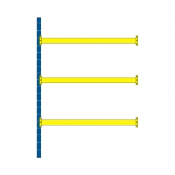 Paletten-Steck-Anbauregal mit 3 Paar Tragbalken, HxBxT 3500x1885x1100 mm, Tragkraft 3100 kg/Tragbalkenpaar