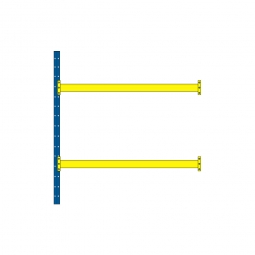 Paletten-Steck-Anbauregal mit 2 Paar Tragbalken, HxBxT 3000 x 2785 x 1100 mm, Tragkraft: 4600 kg/Tragbalkenpaar