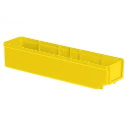 Regalkasten, gelb, LxBxH 400x93x83 mm, Polystyrol-Kunststoff (PS), Gewicht 250 g