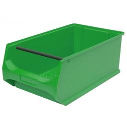 Sichtbox PROFI LB2T mit Tragstab, grün, LxBxH 500x300x200 mm, innen 425x270x190 mm.