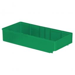 Regalkasten, grün, LxBxH 400x186x83 mm, Polystyrol-Kunststoff (PS), Gewicht 340 g