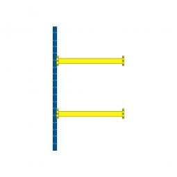 Paletten-Steck-Anbauregal mit 2 Paar Tragbalken, HxBxT 3500 x 1885 x 1100 mm, Tragkraft: 3100 kg/Tragbalkenpaar