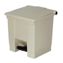 Tret-Abfallbehälter, 30 Liter, beige, BxTxH 415 x 400 x 435 mm