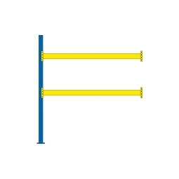 Paletten-Anbauregal für 9 Europaletten, Tragbalkenebenen mit 38 mm Spanplattenböden, Fachlast 1800 kg/Tragbalkenpaar, BxTxH 2785 x 1100 x 3000 mm