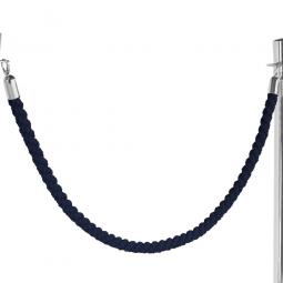 Nylon-Kordel schwarz, Endkappen verchromt, Ø 30 mm, Länge 1500 mm