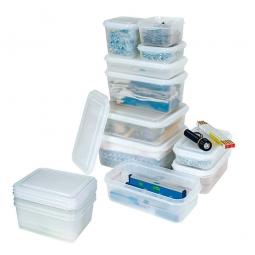 Transparente Aufbewahrungsbox mit Deckel, LxBxH 325 x 265 x 100 mm, 6,5 Liter