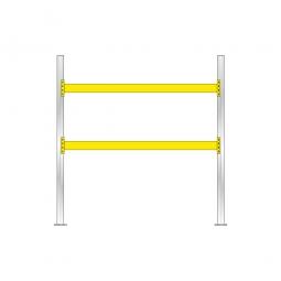 Palettenregal für 9 Europaletten, Tragbalkenebenen mit 38 mm Spanplattenböden, Fachlast 2900 kg/Tragbalkenpaar, BxTxH 2925x1100x3000 mm