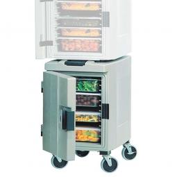 Thermobox für GN-Behälter Frontlader mit Rollen, 89 Liter, Hartschale, BxTxH 465 x 675 x 845 mm