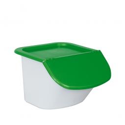 Zutatenbehälter / Zutatenspender, 15 Liter, LxBxH 440 x 400 x 280 mm, weiß/grün