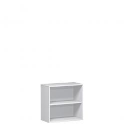 Büroregal PRO, 2 Ordnerhöhen, weiß, BxTxH 1200x425x768 mm
