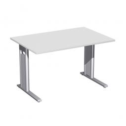 Schreibtisch PREMIUM höhenverstellbar, Rechteck, Lichtgrau/Silber, BxTxH 1200x800x680-820 mm