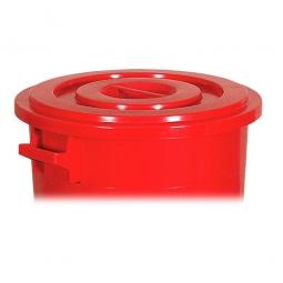 Deckel für Rundtonne 100 Liter, rot