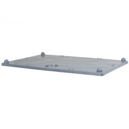 Stapeldeckel für Palettenboxen, 1200 x 800 mm, Farbe grau