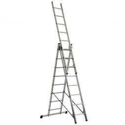 Aluminium-Vielzweck-Leiter mit 3x 8 Sprossen, erreichbare Arbeitshöhe 5512 mm als Anlegeleiter