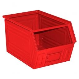 Sichtbox SB5 aus Stahlblech, 11 Liter, LxBxH 350/300 x 200 x 200 mm, rot