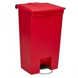 "Tret-Abfallbehälter ""Legacy Step-On"", 87 Liter, rot, BxTxH 500 x 410 x 825 mm"