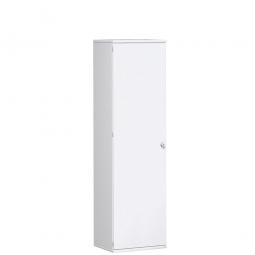 Garderobenschrank PRO, weiß, BxTxH 600x425x1920 mm, 1 Fachboden, 1 Kleiderstange