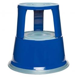 Rollhocker aus Stahlblech, blau, Tragkraft 150 kg, ØxH 290/440x430 mm