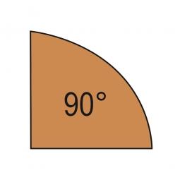 Verkettungsplatte, Viertelkreis 90°, Buche, BxT 800x800 mm