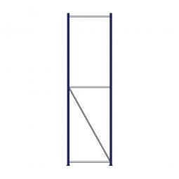 Regalrahmen für Weitspannregale, Stecksystem, fertig montiert, TxH 800 x 3000 mm, Rahmenbreite 40 mm