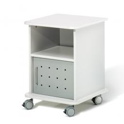 Beistellwagen für schwere Lasten bis 100 kg, lichtgrau, BxTxH 500x500x700 mm