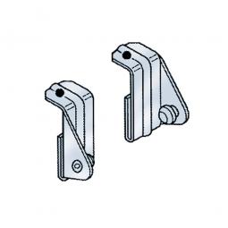Eckverbindungsklammern, VE = 2 Stück, Für die Übereckmontage von Edelstahl-Steck-Regalen