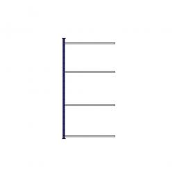 Fachboden-Steck-Anbauregal, kunststoffbeschichtet, HxBxT 2000x1035x615 mm, mit 4 Fachböden