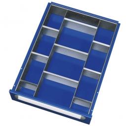 Schubladeneinteilung, 12 Fächer, für Fronthöhe 120-360 mm