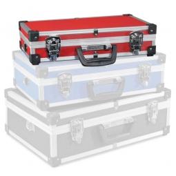 Alu-Rahmenkoffer Größe M, rot, LxBxH 400x250x90 mm, Abschließbar, stabil und temperaturbeständig