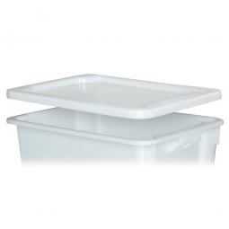 Stülpdeckel für Euro-Dreh- und Stapelbehälter, LxB 600x400 mm, weiß, Polyethylen-Kunststoff