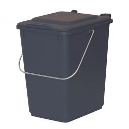 Vorsortierbehälter Inhalt 10 Liter, grau, HxBxT 310x225x275 mm, Polyethylen-Kunststoff (PE-HD)