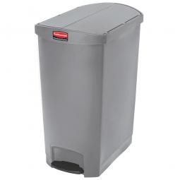 Tretabfalleimer SlimJim, 90 Liter, grau, LxBxH 638x404x814 mm, Polyethylen, Pedal an der Schmalseite