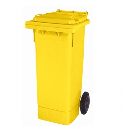 Müllbehälter, 80 Liter, gelb, BxTxH 445 x 520 x 930 mm, Polyethylen (PE-HD)