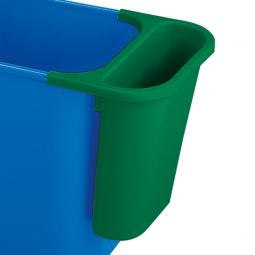Zusatzbehälter, 4,5 Liter, grün, BxTxH 265x120x295 mm, Polyethylen