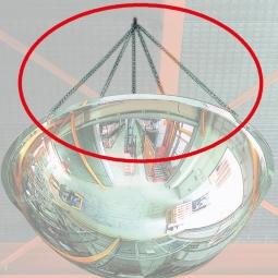 Montageset für runde Panoramaspiegel