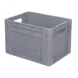 Schwerlast-Eurobehälter geschlossen, PP, LxBxH 400x300x270 mm, 23 Liter, 2 Durchfassgriffe, grau