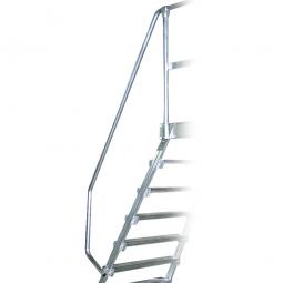 Handlauf aus Aluminium, rechte Seite, beidseitig montierbar, passend für 7 + 8 Stufen