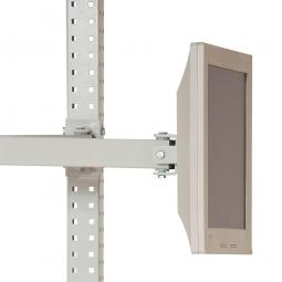 Monitorträger für LCD/TFT-Flachbildschirme, Doppelgelenk-Schwenkausleger 500 mm lang, lichtgrau
