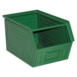 Sichtbox SB5 aus Stahlblech, 11 Liter, LxBxH 350/300 x 200 x 200 mm, grün
