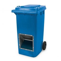 Streugutbehälter mit Entnahmeöffnung, 240 Liter, blau, BxTxH 580 x 730 x 1075 mm