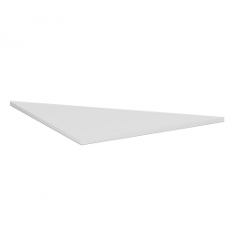 Dreieck-Verkettungsplatte 90° PREMIUM, Lichtgrau/Silber, BxT 800x800 mm