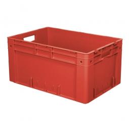 Schwerlast-Eurobehälter, geschlossen, PP, LxBxH 600 x 400 x 270 mm, 50 Liter, 2 Durchfassgriffe, rot