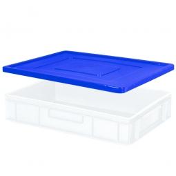 Stülpdeckel für Euro-Stapelbehälter, LxB 600x400 mm, blau, Gewicht 900 g